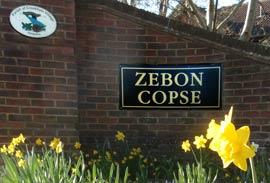 Zebon Copse gateway